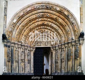 L'Europe, l'Allemagne, la Saxe, Freiberg, la vieille ville, la cathédrale de style gothique flamboyant de Sainte Banque D'Images