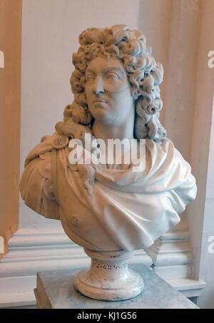 Buste du roi français, Louis XIV, par Simon-Louis Boizot, 1743-1804. Louis XIV (1638 - 1715), connu sous le nom Banque D'Images