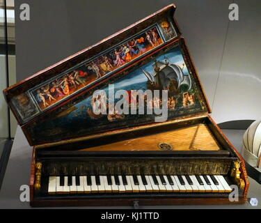 Une octave en épinette, instrument d'un clavier portable, de l'Italie. En date du 17e siècle Banque D'Images