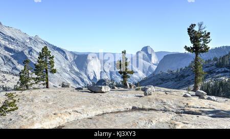 Yosemite National Park: olmsted point -l'avis d'Olmsted point à Yosemite National Park y compris demi-dôme en arrière-plan.