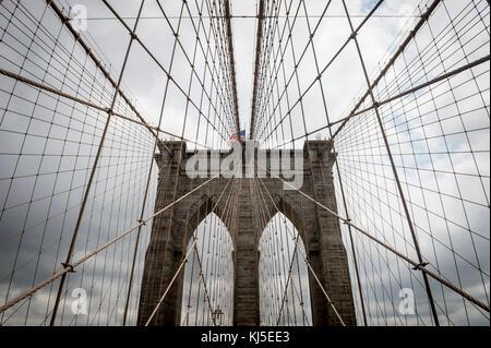 Pont de Brooklyn, New york city close up détails architecturaux