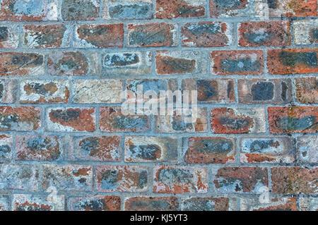 Mur de briques de la texture. Les taches avec des briques . Great old texture, vintage wall sur les médias sociaux, Banque D'Images