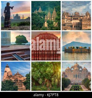 Visiter l'Inde travel concept collage Banque D'Images