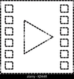 Bande de film Movie player icon Banque D'Images