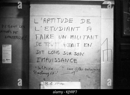 Philippe gras / le pictorium - mai 1968 - 1968 - France / Ile-de-France (région) / paris - affiche, conseil des Banque D'Images