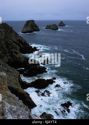 La Bretagne est une région du nord-ouest de la France et se compose de Finistère dans l'ouest, Côtes-d'Armor dans Banque D'Images