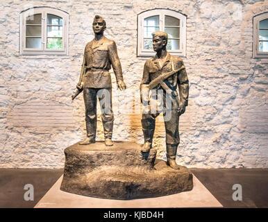 Monument de gardes-frontières est-allemands à Berlin Musée de monuments en disgrâce Banque D'Images