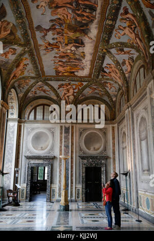 Villa Farnesina, Rome. La Loggia de Cupidon et Psyché. L'Italie. Banque D'Images