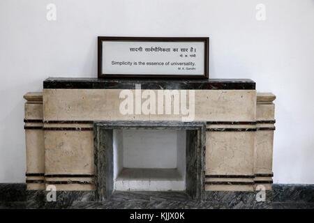 Gandhi Smriti autrefois connu sous le nom de maison ou Birla Bhavan Birla, est un musée consacré au Mahatma Gandhi. Banque D'Images