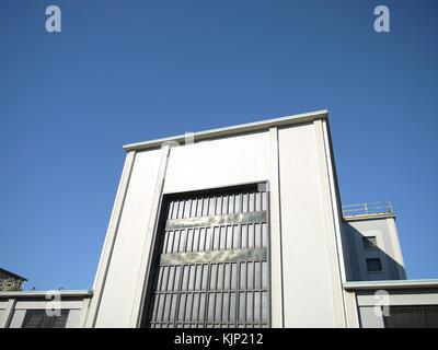 Détail d'un ancien bâtiment industriel à Milan, Italie, 2014 Banque D'Images