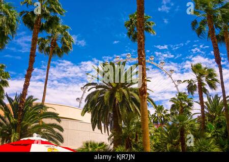Las Vegas, États-Unis d'Amérique - 05 mai 2016: le high roller à la linq, un coin repas et de commerces au centre Banque D'Images
