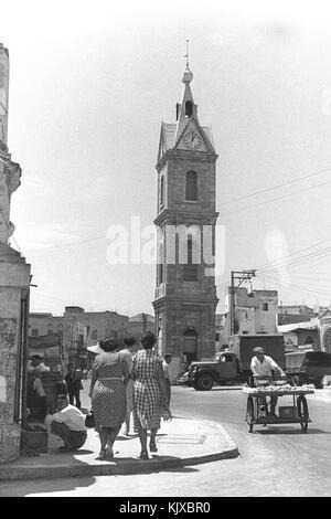 L'horloge à Jaffa Banque D'Images
