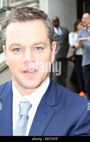 L'acteur Matt Damon à Londres en novembre 2016. Banque D'Images