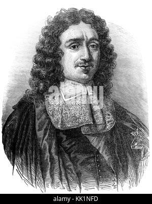 Jean-Baptiste Colbert, Marquis de Seignelay, 1619 - 1683, un homme d'État français et ministre des Finances Banque D'Images