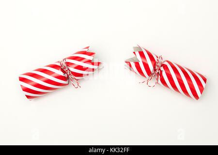 Tiré de Noël sur fond blanc crackers