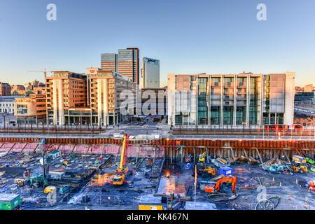 Oslo, Norvège - 27 février 2016: modern business architecture en construction dans le centre d'Oslo, Norvège. Banque D'Images