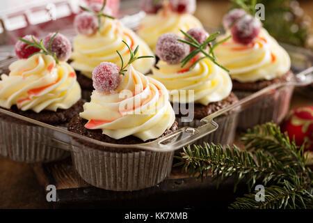 Petits gâteaux aux canneberges pain d Banque D'Images