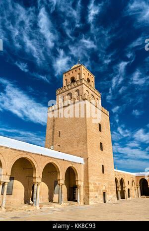 La grande mosquée de Kairouan en Tunisie Banque D'Images