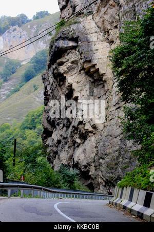 Chegem - canyon des chutes d'eau, anciennes régions de Kabardino-balkarie en Russie Banque D'Images