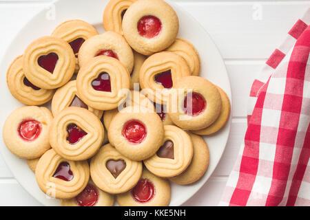 Sweet jelly cookies. vue d'en haut. Banque D'Images