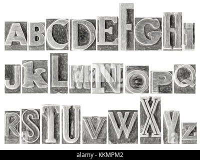 Jeu De L Alphabet Anglais Un Collage De 26 Lettres Isolees En