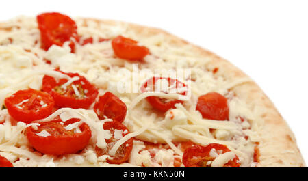 Pizza non cuite isolated over white background Banque D'Images