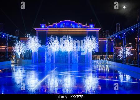Noël traditionnel spectacle sur glace à Göteborg en liseberg. Le marché de Noël au parc d'attractions Liseberg est Banque D'Images