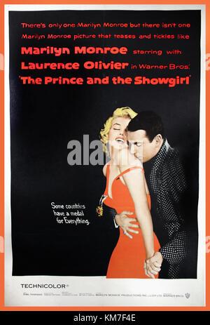 Vintage poster du film THE PRINCE AND THE SHOWGIRL, 1957. Affiche de film avec Marilyn Monroe et Laurence Olivier, Banque D'Images
