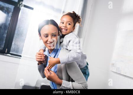Usurpation de sa fille mère Banque D'Images