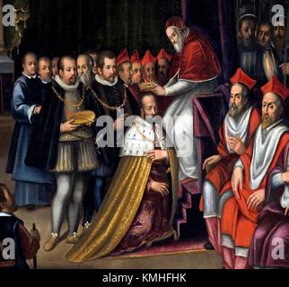 Le pape Pie V Couronnes Cosimo I Grand-duc de Toscane 5 mars 1569 Florence Italie italien ( Cosimo I de Médicis Banque D'Images