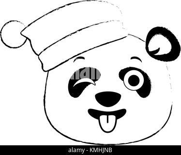 Panda mignon kawaii emoji fou