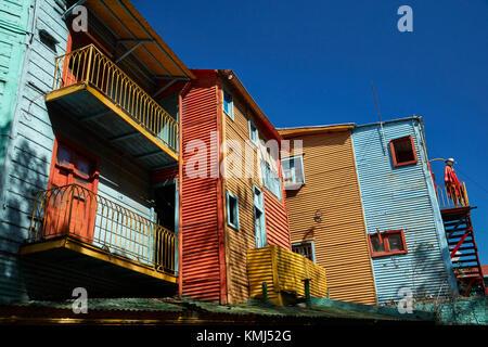 Bâtiments sur el Caminito, la Boca, Buenos Aires, Argentine, Amérique du Sud Banque D'Images