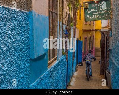 Maroc, Tanger, dans les 'Medina' (partie ancienne) de Tanger. Banque D'Images