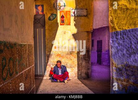 Maroc, Tanger, dans le ''Medina'' (partie ancienne) de Tanger. Banque D'Images