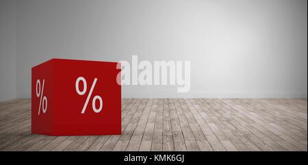 Icône vecteur symbole de pourcentage contre digital prix