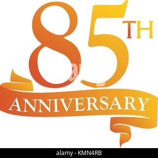 85 Ans Bon Anniversaire Logo Or Sur Fond Blanc Lanniversaire D