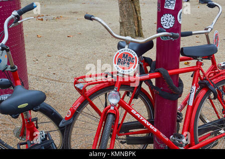 Une location de vélo Vélo Mac et tour company, Amsterdam, Pays-Bas Banque D'Images