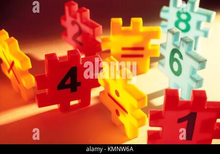 Plusieurs morceaux. Puzzles Banque D'Images