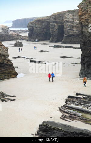 Catedrales beach Ribadeo Asturies espagne. Banque D'Images