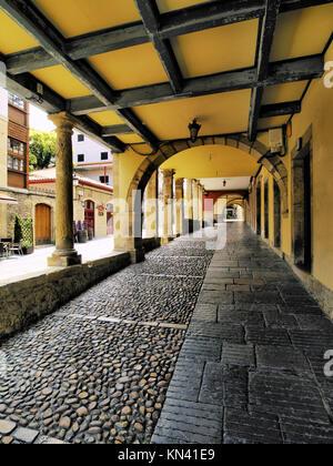 Aviles - belle petite ville dans les Asturies, région nord de l'Espagne. Banque D'Images