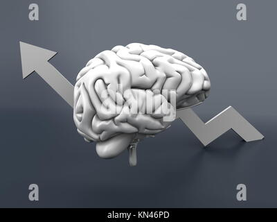 L'intelligence croissante. 3D Illustration. Banque D'Images