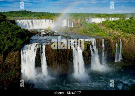 L'île de San Martin, chutes d'Iguaçu, vue de côté Brésilien Banque D'Images