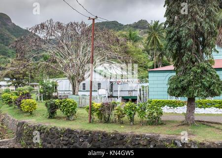 L'Ovalau Club (fermé), Levuka Ovalau, Îles Fidji, Pacifique Ouest, Pacifique Sud, Site du patrimoine mondial, ancienne Banque D'Images