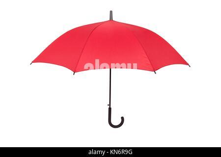 Parapluie rouge isolé. Banque D'Images