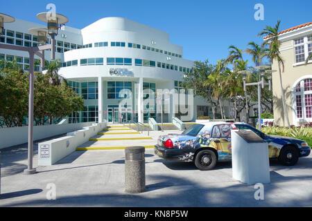 Siège de la police de Miami, Miami Beach, South Beach, en Floride. Banque D'Images
