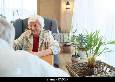 Senior Couple in Cafe Banque D'Images