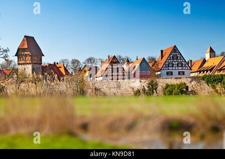 Dinkelsbuehl vieille ville en Allemagne. Banque D'Images