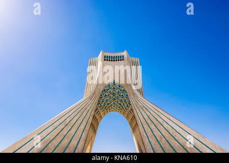 La tour Azadi de Téhéran, ville de l'Iran. Banque D'Images