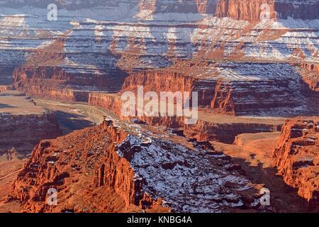 Colorado River Canyon de Dead Horse Point, Dead Horse Point State Park, Utah, USA. Banque D'Images