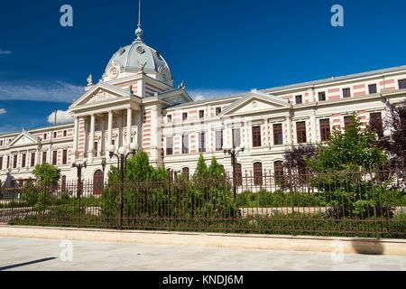 La façade de l'Hôpital Coltea (Spitalul Coltea), construit en 1704, c'est le plus ancien hôpital construit à Bucarest. Banque D'Images